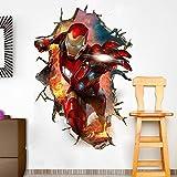 JUNMAONO The Avengers League Ironman Wandaufkleber/Wandgemälde/Wand Poster/Wandbild Aufkleber/Wandbilder/Wandtattoo/Tapete/Tapezieren/Tapeten/Wand Zeitung/Instant Aufkleber