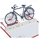 XIAOLI 3-D Papier-Cut Carte Postale vélo Carte stéréo Carte Faite à la Main Carte bénédiction du Festival 2PCS