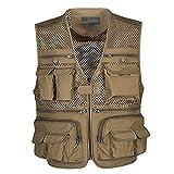 Sentao Herren Weste Ärmellos Sport Outwear mit Reißverschluss Outdoor-Weste Jacke mit Vielen Praktischen Taschen