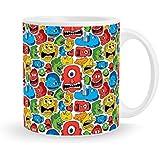 Nowoye Monster Doodles Coffee Mug  Coffee Mug For Gift    Mug For Boys/Girls   Printed Mug