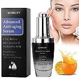 Retinol Serum, Anti Aging Serum - 2.5% Retinol, 20%Vitamin C, Hyaluronsäure Serum, Bestes Anti-Aging, Anti Falten Straffendes Serum für Haut, Gesicht, Dekolleté und Körper