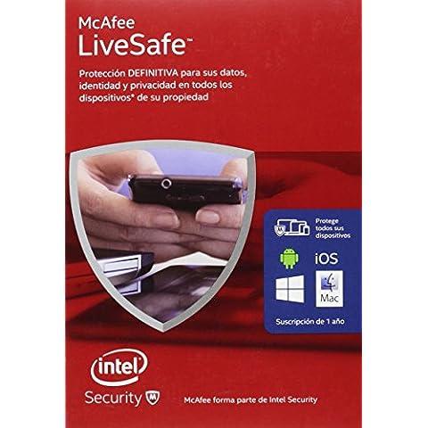 McAfee Livesafe Estandart Plus 2016 - Software De Seguridad, Dispositivos Ilimitados