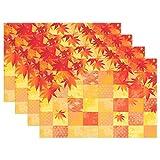 Wamika Ahorn-Tischset, schöne Herbst-Ahornblätter, Rutschfest, fleckenabweisend, 30,5 x 45,7 x 2,5 cm, 1 Stück 12x18x6 in Mehrfarbig