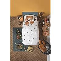 Snurk Orsacchiotto Teddy Bear Copripiumino, Percalle, Bianco/Multicolore, Singolo, 220x140x0.4 cm