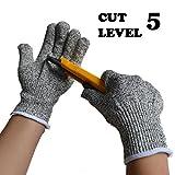 Schnittfeste Schnittschutz Level 5 Schnittschutz-Handschuhe, EN-388 Zertifiziert, Lebensmittelecht