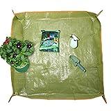 Bureze 88,9x 88,9cm PE Beschichtung Blumentopf Bodenfolie Garten-Transplantation Beschneiden Boden Matte