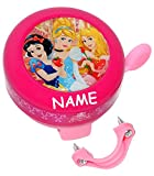 Fahrradklingel Prinzessin incl. Namen - Klingel für das Fahrrad Princess Prinzessin Belle Kinder Mädchen 2 Disney Prinzessinnen Lenkerklingel