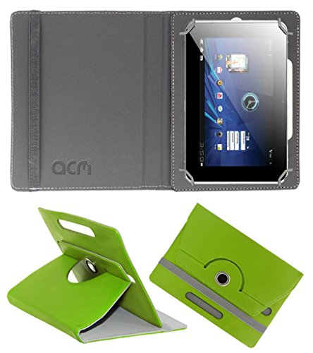 Acm Rotating 360° Leather Flip Case for Karbonn Smart Tab 2/3 Cover Stand Green  available at amazon for Rs.149