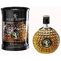 Elegante Golf regalo–PREMIUM Blend Scotch Whisky de Old St. Andrews–En una amplia pelota de golf Botella, 0,7litros–40% vol.