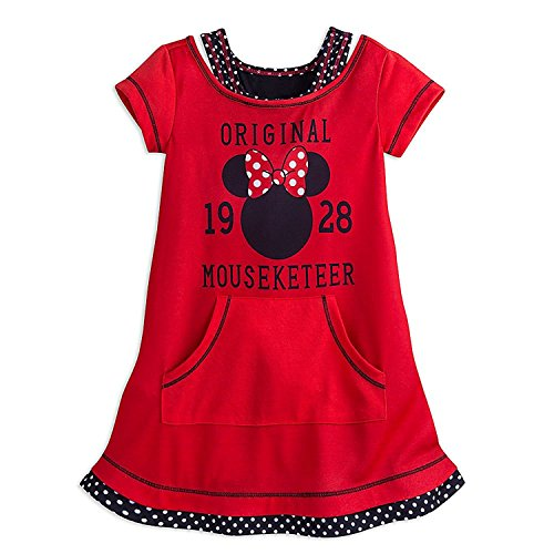 Minnie Mouse Mouseketeer Nachthemd f¨¹r M?dchen Gr??e 4 Rot (Dot Nightshirt Polka)