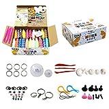 Webeauty DIY Fluffy Slime, 24 Farben Magic Clay DIY Modell Schleim Farbige Ton, Weihnachtsgeschenk für Erwachsene und Kinder