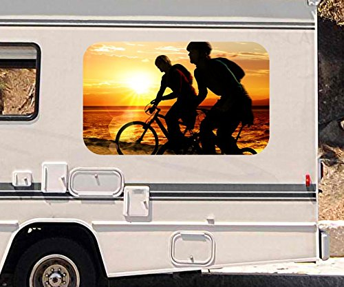 3d-autoaufkleber-fahrrad-meer-strand-sonnenuntergang-wohnmobil-auto-kfz-fenster-motorhaube-sticker-a