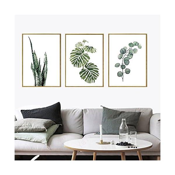 foglie verdi quadri di tela muro arte disegno moderno per soggiorno camera  da letto sala da pranzo cucina sala da pranzo decorazione da yunhigh (senza  ...