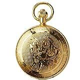 Metallo rame cavallo con successo meccanico a carica automatica orologio da tasca commemorativo tavolo appeso uomini e donne retrò vongole spessore: 13 millimetri diametro del quadrante: 48mm