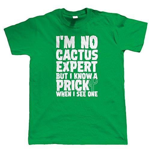 Vectorbomb, Cactus Expert, Mens lustige T-Shirt Grün