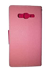 Eclipse Goospery Galaxy Grand 2 Duos I7106 Baby Pink With Hot Pink Magnetic Closure Wallet Case