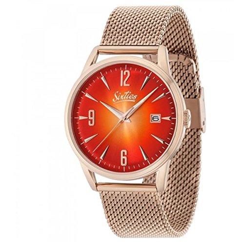 hsene Analog Quarz Uhr mit Edelstahl Armband SIX500RGME-09 ()