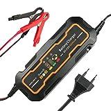 6V/12V Batterie Ladegerät Auto KFZ,GOGOLO 5A Automatisch Batterieladegeräte 3 Schritt Batterie Betreuer Schnellladegerät Für Auto Motorrad Blei-Säure Batterien