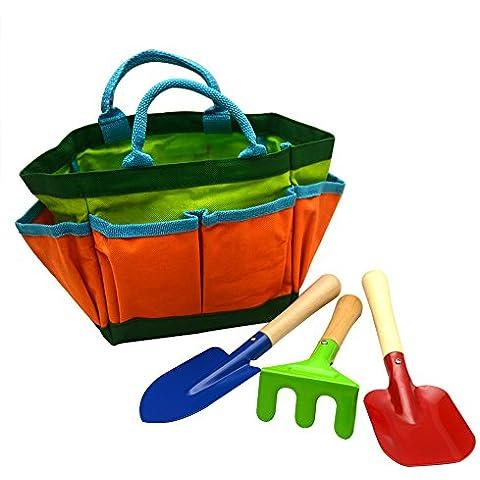 colorful kids jardinera herramienta bolsa de lona set paleta rastrillo tenedor de los nios