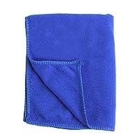 Kitechildhood Microfiber Quick Drying Hemming Cleaning Cloth Water Absorption Car Wash Towel Dark Blue 70 * 30CM