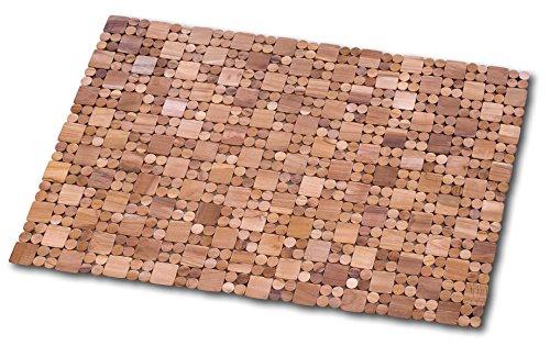 Dintex Teka - Alfombra en madera, color marrón