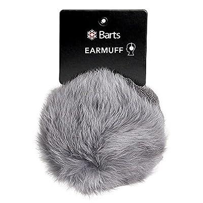 Barts Real Fur Earmuffs Dark Heather
