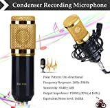 #5: Bm 800 Professional Studio Condenser Microphone For Voice Recording Youtube Adapter Cable Connector Dynamic Holder Noise Cancelling Cancellation Recorder Shock Mount Device Bm800 Mic Micro Phone Kit Set Singing Golden