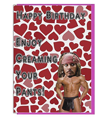 Witz Geburtstag Karte -, für die Jack Sparrow/Johnny Depp Admirer ()