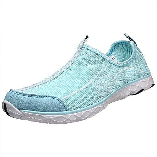 aleader Chaussures de maille antidérapant sur l'eau pour femme Blue8521A