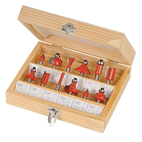 silverline-792084-025-inch-tct-router-bit-set-025-inch-12-piece-set