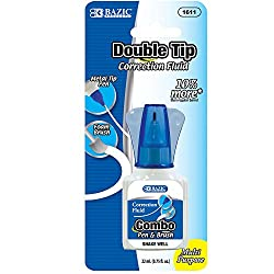 BAZIC 22ml 2 in 1 Correction w/ Foam Brush Applicator & Pen Tip