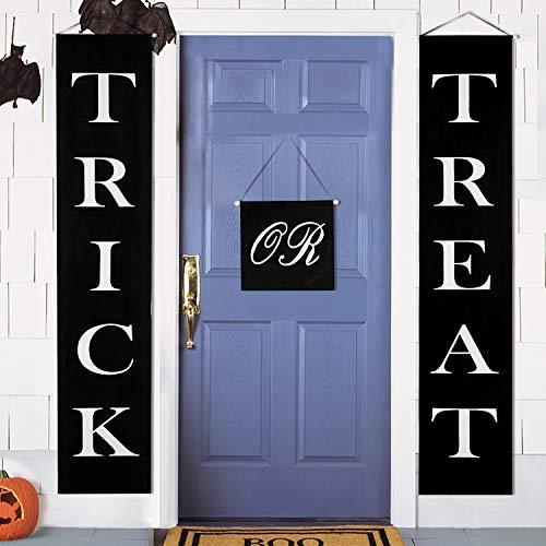 MACTING Halloween Banner Trick or Treat 3-teiliges Set für Zuhause Indoor Outdoor Halloween ()