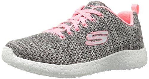 Skechers Burst New Influence, Baskets Basses Femme Grey/Coral