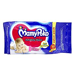 Mamy Poko Soft Baby Wipes (100 Count)