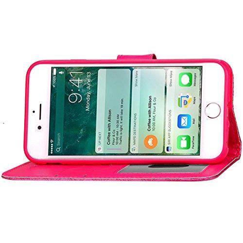 iPhone 7 Plus Coque, Apple iPhone 7 Plus Coque, Lifeturt [ Or ] Motif Pure Couleur Housse en Cuir Case à Avec La Fonction Stand Coque de Intérieure Protection Souple Coque Portefeuille TPU Silicone Ca E2-Se leva