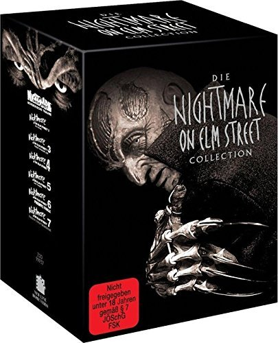 Nightmare on Elm Street 1 - 7 Limited Uncut Box Collection (limitiere Erstauflage mit Booklet im Schuber - Deutsche Ausgabe) 7 x DVD Uncut-box