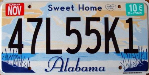 USA Nummernschild ALABAMA ~ US Kennzeichen Heart of Dixie / SWEET HOME ~ Blechschild