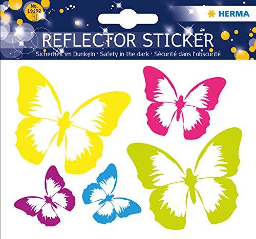 Herma 19192 Reflektor (Aufkleber Schmetterling, permanent haftend, für Kinder)