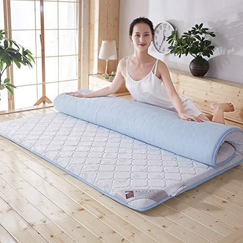 Xing Queen-Size-Baumwolle Memory-Matratze, Matratzenbezug mit Futon Tatami-Boden Schlafsaal Gesteppte Matten tragbare Faltkissen für Schlafsaal Pad-B 120x200cm (47x79inch) - Baumwolle Queen-size-matratze