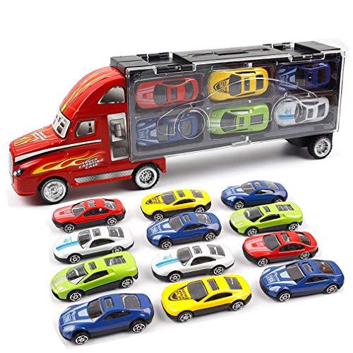 o tragbaren Container LKW Legierung Auto Spielzeug Lagerung Transport Auto Junge ()