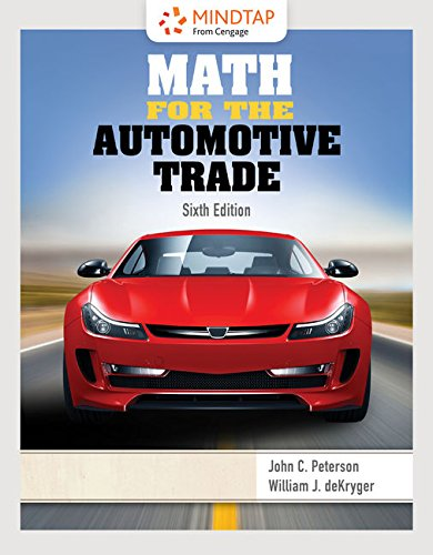 MindTap Applied Math, 2 terms (12 months) Printed Access Card for Peterson/deKryger's Math for the Automotive Trade, 6th