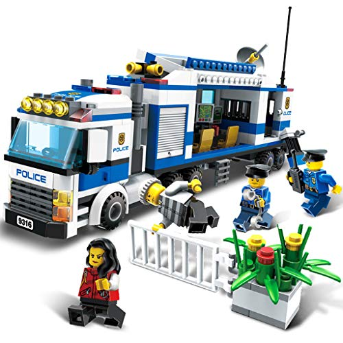 City Police Mobile Command Vehicle, Kinderblock-Set, Bauspiel, Bausatz (407 Stück) Mobile Command Vehicle