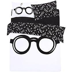 Juego de Cama Blanco y Negro 230x220 Harry Potter