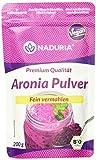Naduria Bio Aronia Pulver in Premium Qualität | 400g (2 x 200g) | Getrocknete & fein vermahlene Aronia Beeren | Reich an Ballaststoffen | Vegan