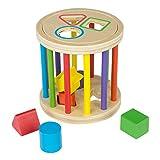 WOOMAX - Juego de madera y 6 figuras geométrica para encajar (ColorBaby 43618)