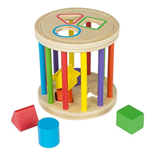 ColorBaby - Wooden game & 6 geometric figures to fit (43618)