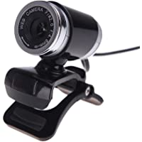 KKmoon USB 2.0 12 Megapixel HD Kamera Webcam mit Mikrofon Clip-on 360 Grad für Desktop Computer PC Laptop Skype Schwarz