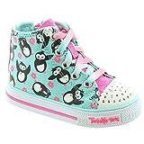 Skechers - Kids 10726N Twinkle Toes Lace Boots in Light Blue Pink, Light Blue Pink