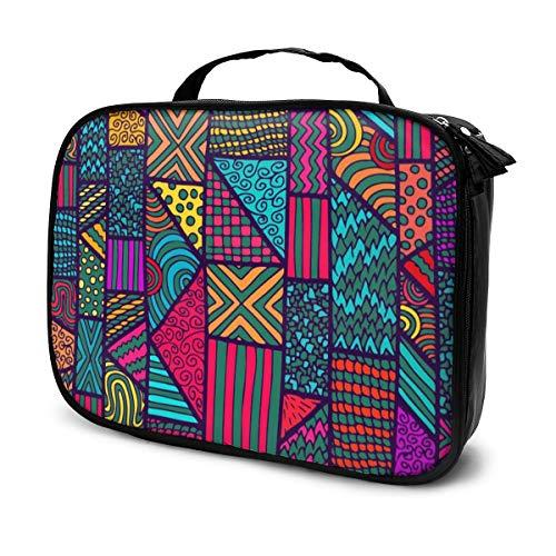 Native American inspiriert Retro aztekische Muster Make-up Bag Cute, stilvolle Kosmetiktasche für Frauen Travel Toiletry Bag Organizer