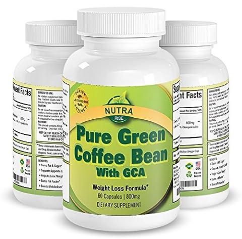 Bestes Grüner Kaffeebohnenextrakt, Fettverbrennung, Hochkonzentriert – zum Abnehmen, Gewichtsverlust mit Diätpillen, Wie im TV auf Dr. Oz Gesehen, 100% Geld Zurück Garantie, Hergestellt in USA, 800mg, 60 Kapseln